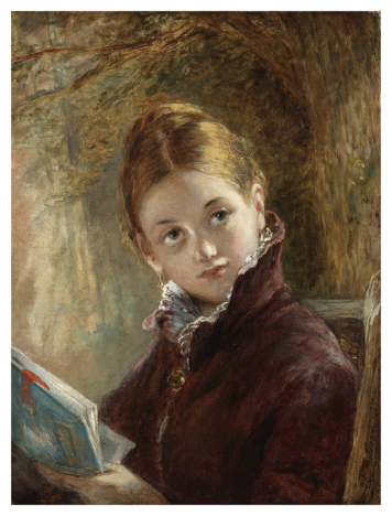 A Quiet Read, 1875 (Oil on Canvas) (Augustus Edward Mulready)