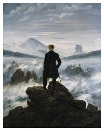 The Wanderer Above the Sea of Fog / Caspar David Friedrich