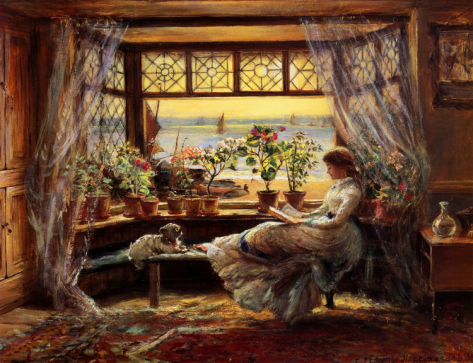 Reading by the Window Hastings (Charles James Lewis)