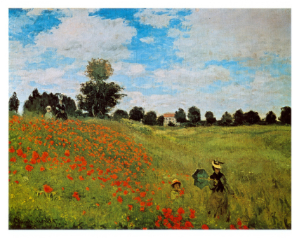 Vlčí máky - Corn Poppies (Claude Monet)