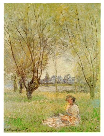 Žena pod vrbami - Woman Under the Willows (Claude Monet)