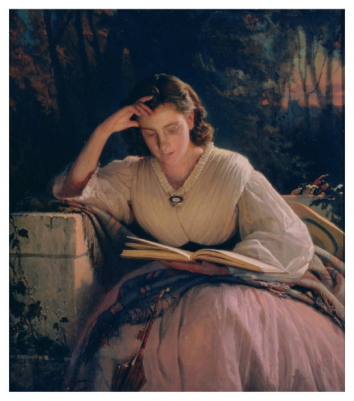 Reading, 1863 / Ivan Nikolaevich Kramskoy