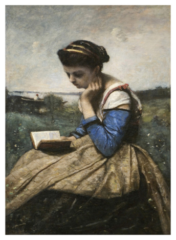 A Woman Reading (Jean-Baptiste-Camille Corot)