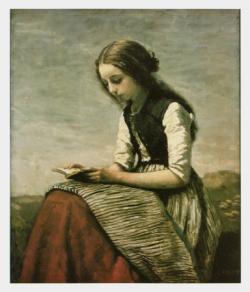 Girl Reading / Jean-Baptiste-Camille Corot