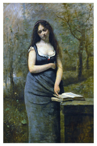 Velleda (Inspired by the Heroine of Martyrs, by Chateaubriand) (Jean-Baptiste-Camille Corot)