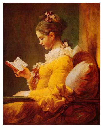 Young Girl Reading / Jean-Honoré Fragonard