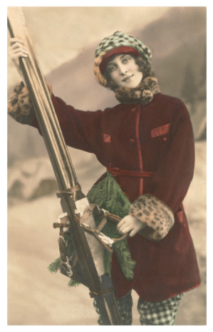 Lyžařka - Lady with Skis