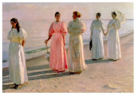 Promenáda na pláži - Promenade on the Beach (Michael Peter Ancher)