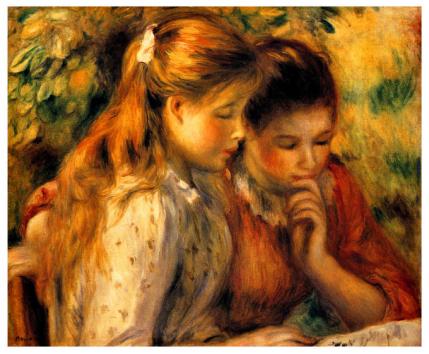 Dvě dívky čtou - Two Girls Reading (Pierre-Auguste Renoir)