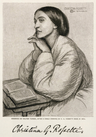 Christina Rossetti English Poet (Walter Turner)